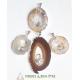 Pendentif tranche d'agate et pointe de cristal de roche