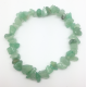 Bracelet baroque en aventurine verte