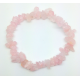 Bracelet baroque en quartz rose