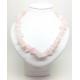 Collier baroque en quartz rose