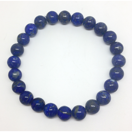 Bracelet Perles Lapis Lazuli 8 mm